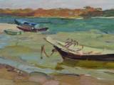 2003-Этюд с лодками. Раздоры-хкм-23и5х46и5