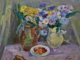 2000-Полевые цветы.Натюрморт-хкм-40х50