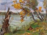2007-Теплый октябрь,р.Северский Донец-км-35х50-