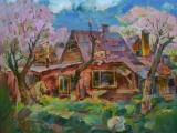 2007-Цветут жерделы на Каменке-хм-45х60
