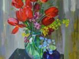 2001-Букет тюльпанов-хм-50х40