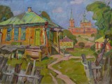 2002-Казачья усадьба. Х.Крымский-хм-46х60