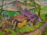 2005-В хуторе Каныгин цветет сирень-км-39х57