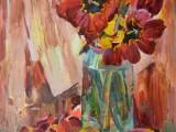 2007-Тюльпаны. Натюрморт-хм-60и5х45
