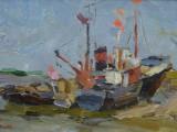 50-е-Корабли у берега-км-14х23