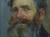 50-е-Мужской портрет-хкм-34х28