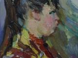 50-е-Портрет девушки.Этюд-км-15и5х11
