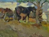 50-е-Этюд с лошадьми-км-22х28