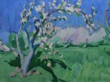 66-Голубая весна-хкм-49х68