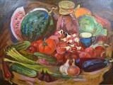 80-Натюрморт с помидорами-хм-60х80