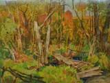 90-Пейзаж с мостиком. Из цикла Красота и драма Северной балки-хкм-60х80