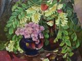 91-Натюрморт с цветущей акацией-хм-45х45