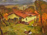92-Осень.Шахтерский пейзаж-хкм-31х42