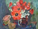 93-Тюльпаны и ракушки-хм-40х50и5