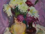 97-Цветы на вернисаже-км-52х41