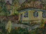 76-Дворик каргинский.Дом, где жил М.А.Шолохов.Из серии Вешенская земля-б акв-38х48