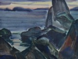 72-73-Закат.Из серии Д.Восток-б акв-47х58