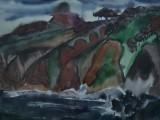 72-73-Остров Рикарда.Из серии Д.Восток-б акв-41х55