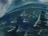 72-Курильские ветры.Из серии Курилы-б акв-40х60