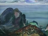73-Штиль.Охотское море.Из серии Курилы-б акв-47х65