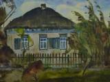 76-Дом, где родился М.А.Шолохов.Из серии Вешенский родник-б акв-45х62
