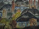 76-Сельский пейзаж.Из серии Вешенская земля-б акв-46х64