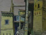 65-Кубачинский проспект.Из серии Дагестан-б акв уг 55х46