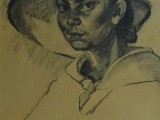 66-Женский портрет-б уг-53х35